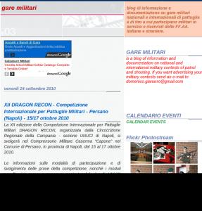 Snapshot del sito Gare Militari