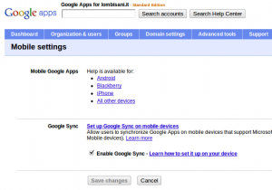 Mobile Settings Google